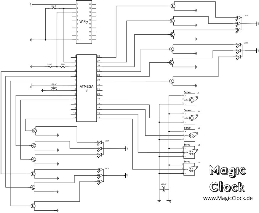 Magic Clock Circuit diagram